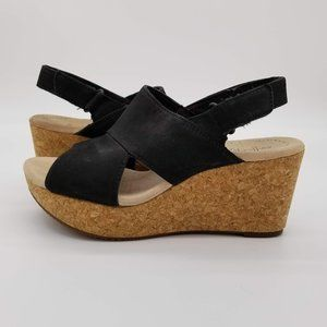 Clarks Collection Annadel Wedge Cork Sandals - 6